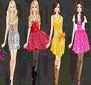 Barbie Puanlı Elbiseleri