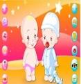 Çift Bebekleri Giydirme